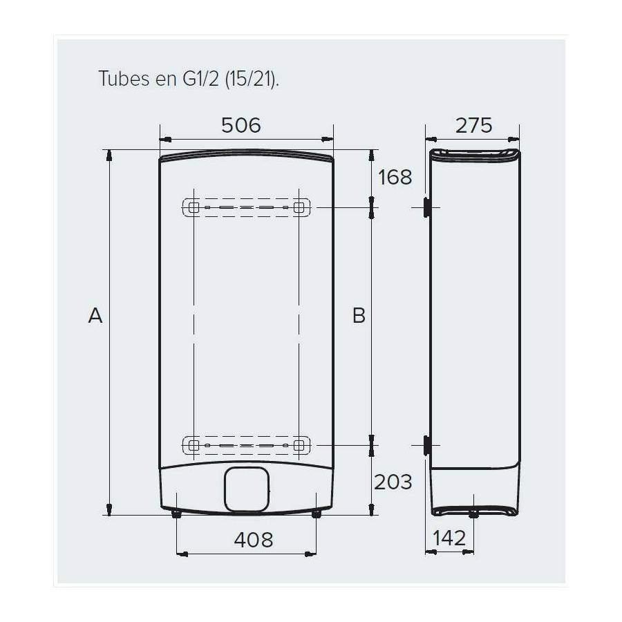 chauffe eau lectrique plat velis evo plus 65 litres. Black Bedroom Furniture Sets. Home Design Ideas