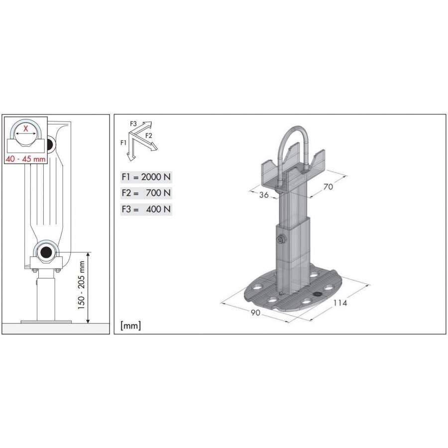 Ventilateur Sur Pied : Pied pour radiateur aluminium blanc pièce