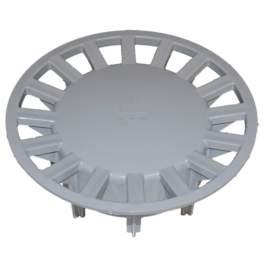 Grille pour siphon de cours : 250x250, gris clair