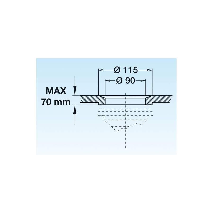 Bonde Avec Tube De Surverse Acier Inox 150mm Pour Evier Diametre 90mm