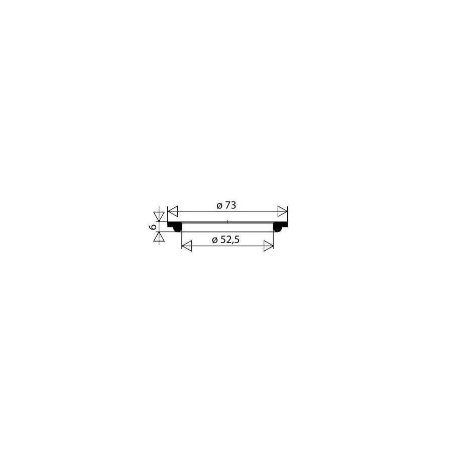 Joint Pour Bonde Dévier Inox Ou Baignoire Diamètre 73mm Lunité