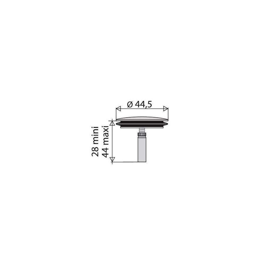 Clapet Inox Diamètre 445mm Pour Vidage De Baignoire