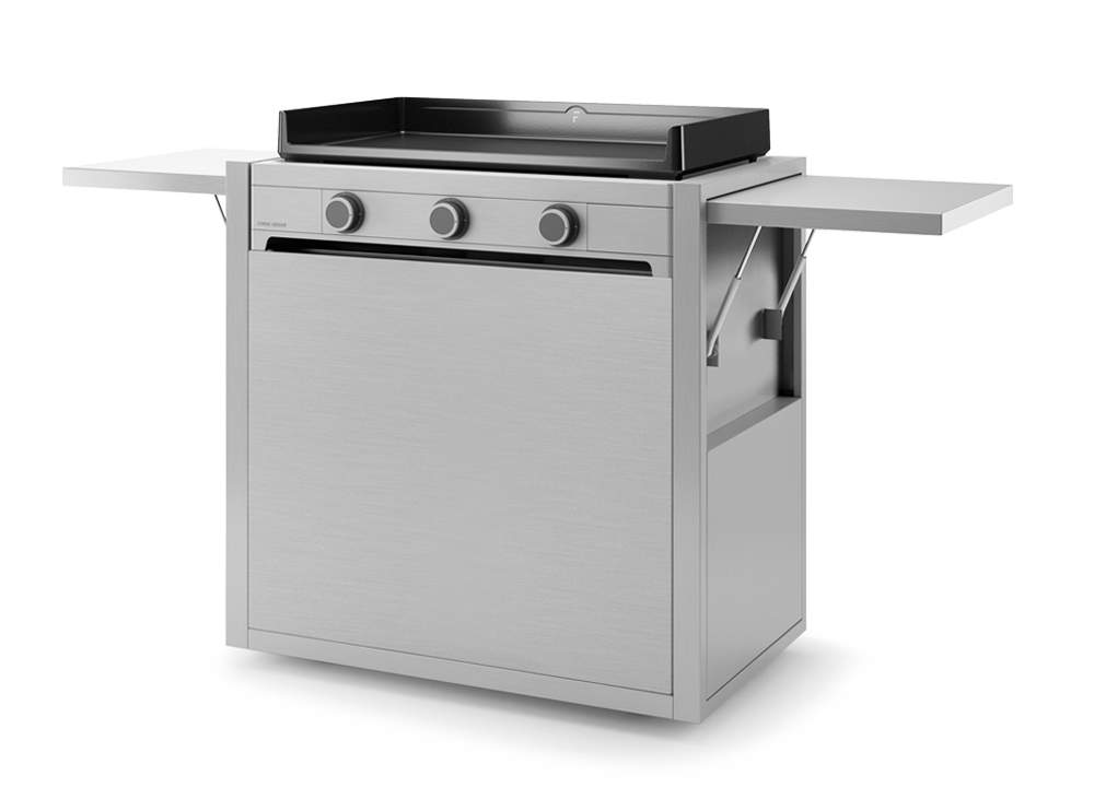"""Chariot inox pour plancha FORGE ADOUR """"Modern"""" 75"""