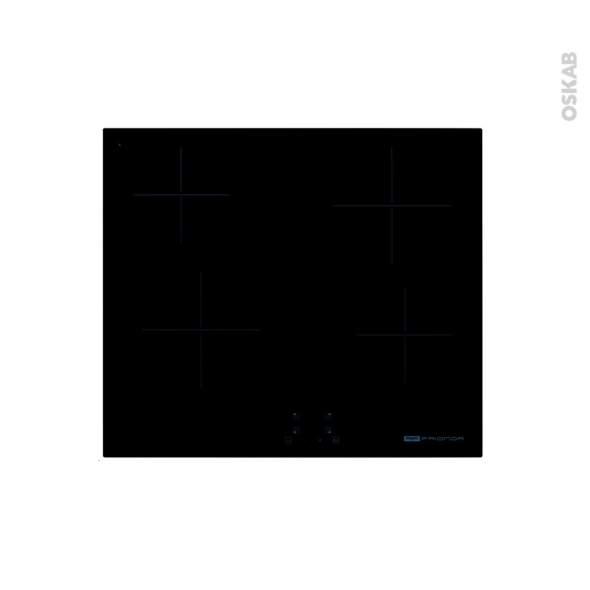 Table vitro 4 zones noire à touche sensitives