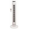 Ventilateur colonne blanc, 80cm, 50w, 3 vitesses