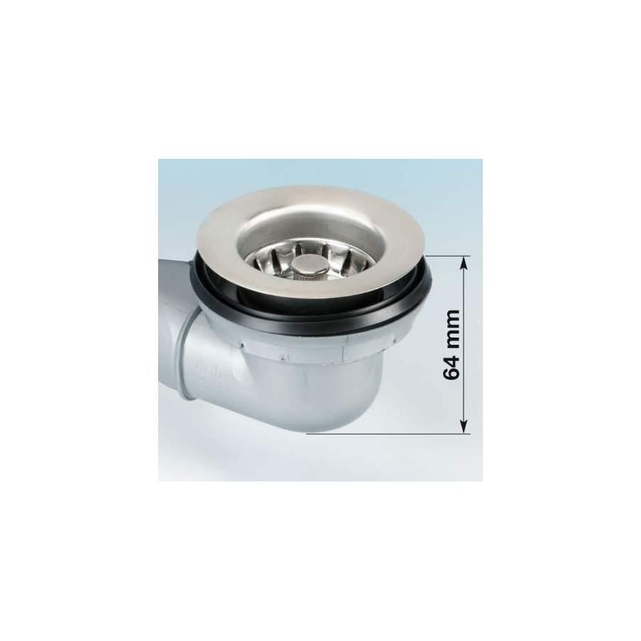 Id/éal comme pi/èce de rechange Blanco Pour /évier de cuisine Bonde d/évier /à panier Pi/èces de rechange Avec un diam/ètre de 80 mm En acier inoxydable