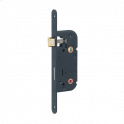 Serrure encastrée, axe 40mm, à condamnation B/BR, epoxy noire