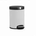 Poubelle cylindrique 5 litres, blanc mat