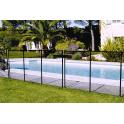Barrière de protection pour piscine enterrée NORA noir, module de 3 mètre