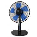 Ventilateur de table noir et bleu, diamètre 40cm BOREAL 12 ELEGANCE