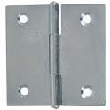 Charnière meuble, carrée, 30 x 30 mm, acier