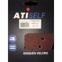 Disque velcro DSV diamètre 125mm, grain de 80, 8 trous, 5 pièces