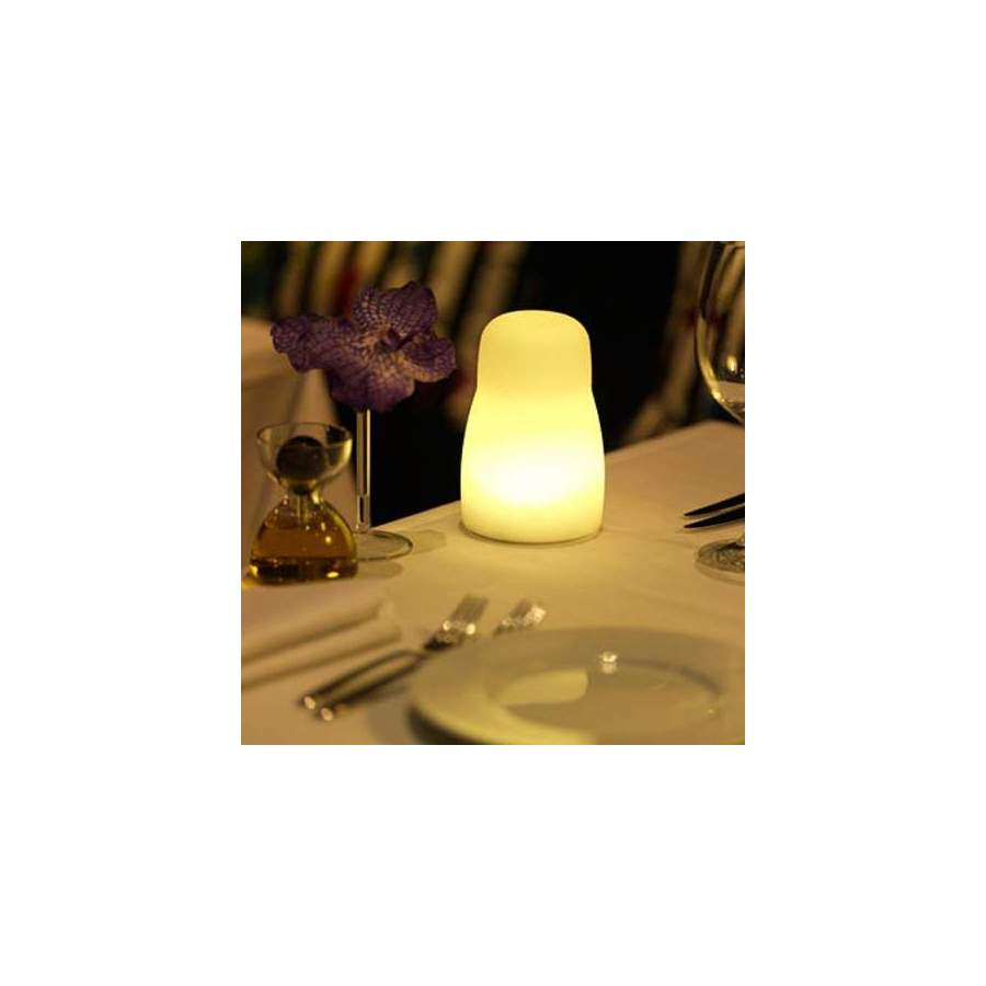 8 lampes de table sans fil matroushka led multicouleur - Lampe de table led sans fil ...