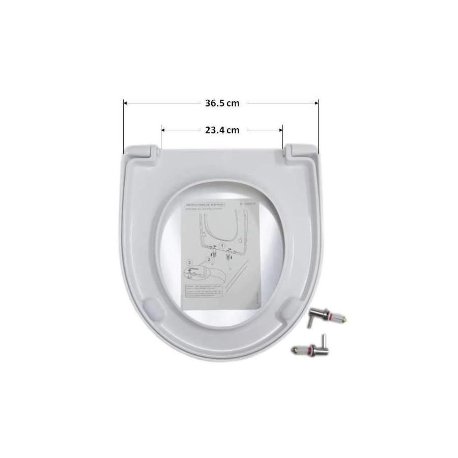 Psyche Pivotant Salle De Bain ~ Abattant Selles Royan Compact Blanc Allia Prima Multicompact Et