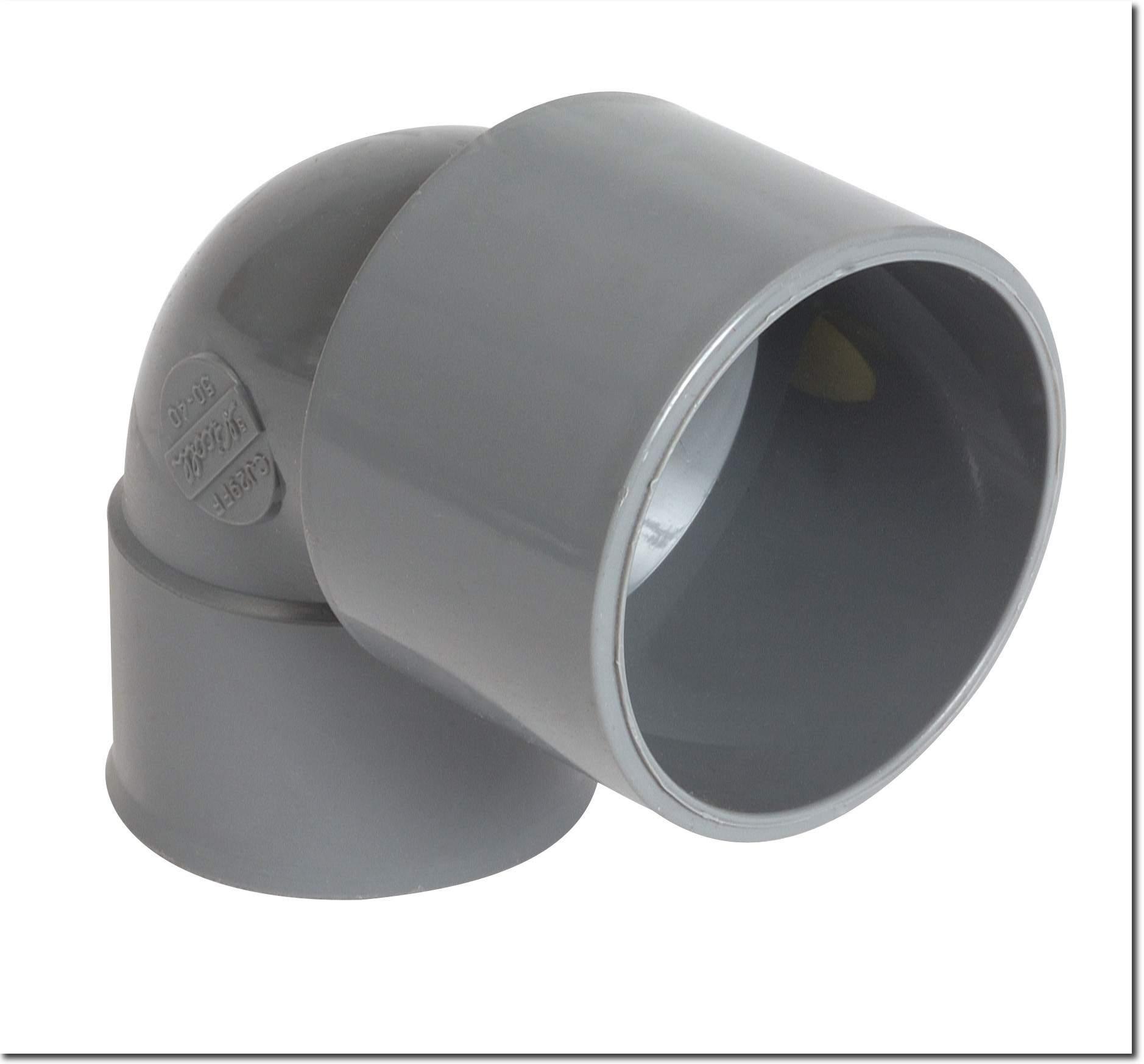Coude à 90° pour raccordement multi-matériaux