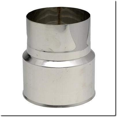 Réduction Inox pour départ tubage sur Te ou tuyau rigide