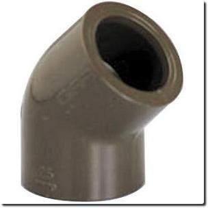 Coude 45° femelle/femelle PVC HTA