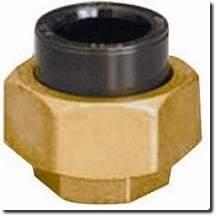 Union 3 pièces femelle laiton/PVC HTA