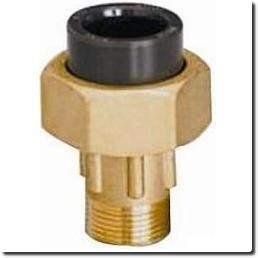 Union 3 pièces mâle laiton/PVC HTA