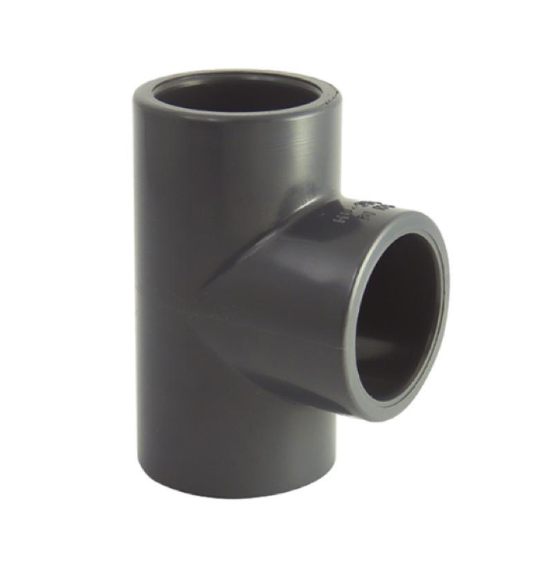 Te 90° PVC pression