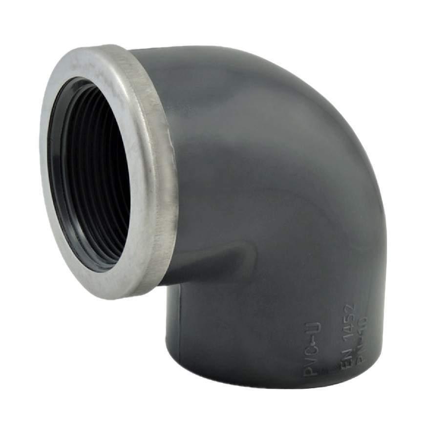 Coude 90° taraudée PVC pression