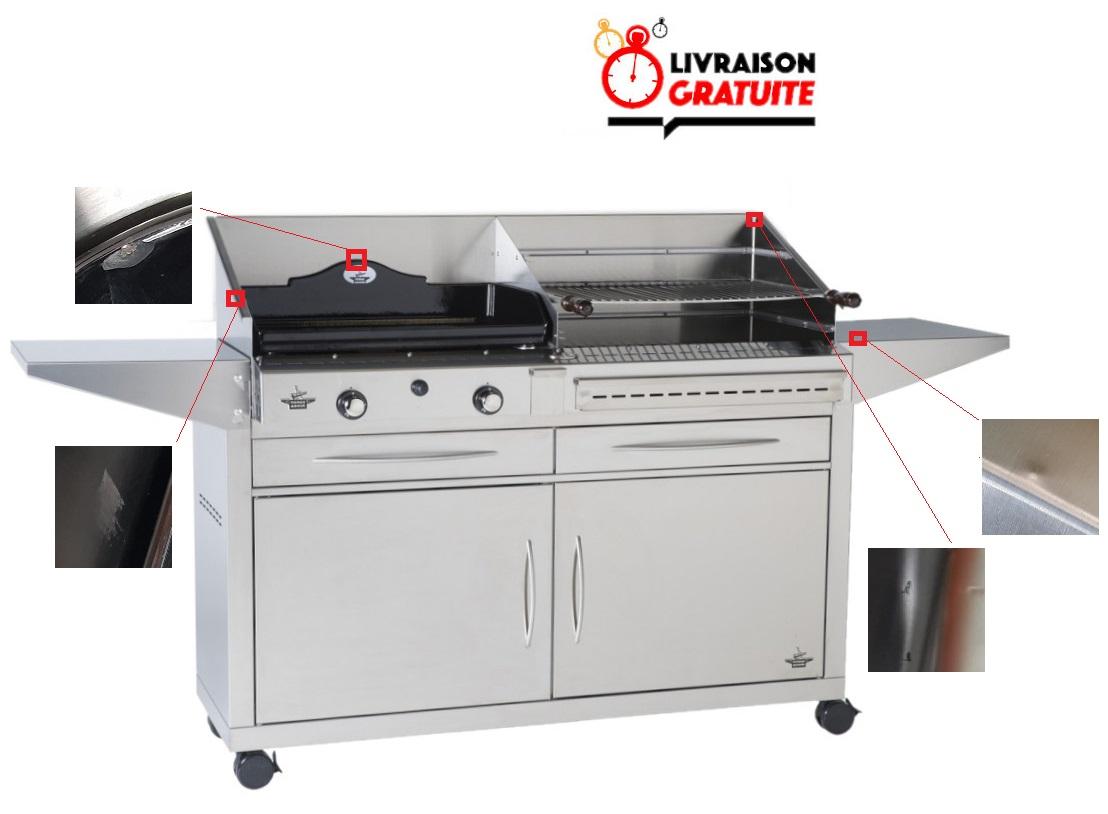 Barbecue Gaz Sans Plancha pack forge adour duo plancha grill avec chariot, livraison